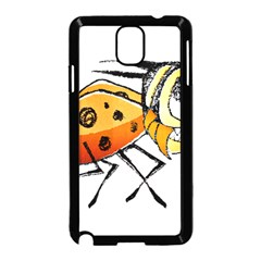Funny Bug Running Hand Drawn Illustration Samsung Galaxy Note 3 Neo Hardshell Case (black)