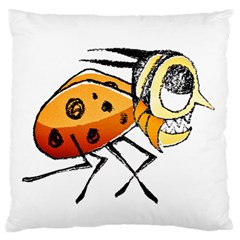 Funny Bug Running Hand Drawn Illustration Standard Flano Cushion Case (two Sides)