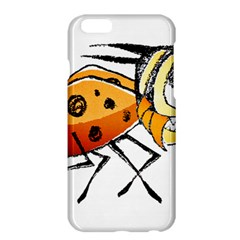 Funny Bug Running Hand Drawn Illustration Apple iPhone 6 Plus Hardshell Case