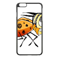 Funny Bug Running Hand Drawn Illustration Apple iPhone 6 Plus Black Enamel Case