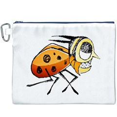 Funny Bug Running Hand Drawn Illustration Canvas Cosmetic Bag (XXXL)
