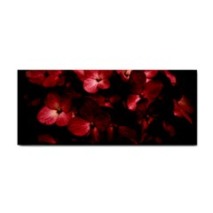 Red Flowers Bouquet in Black Background Photography Hand Towel