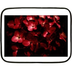 Red Flowers Bouquet in Black Background Photography Mini Fleece Blanket (Two Sided)