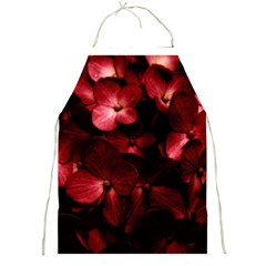 Red Flowers Bouquet In Black Background Photography Apron