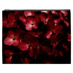 Red Flowers Bouquet In Black Background Photography Cosmetic Bag (xxxl)