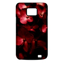 Red Flowers Bouquet in Black Background Photography Samsung Galaxy S II i9100 Hardshell Case (PC+Silicone)