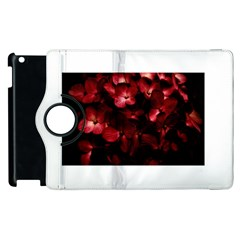 Red Flowers Bouquet in Black Background Photography Apple iPad 2 Flip 360 Case