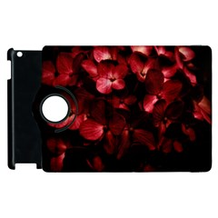 Red Flowers Bouquet in Black Background Photography Apple iPad 3/4 Flip 360 Case