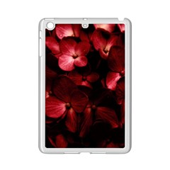 Red Flowers Bouquet in Black Background Photography Apple iPad Mini 2 Case (White)