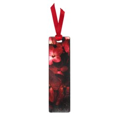 Red Flowers Bouquet in Black Background Photography Small Bookmark
