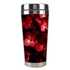 Red Flowers Bouquet in Black Background Photography Stainless Steel Travel Tumbler