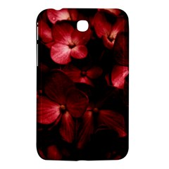 Red Flowers Bouquet In Black Background Photography Samsung Galaxy Tab 3 (7 ) P3200 Hardshell Case