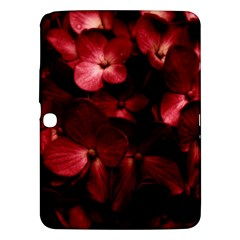 Red Flowers Bouquet in Black Background Photography Samsung Galaxy Tab 3 (10.1 ) P5200 Hardshell Case
