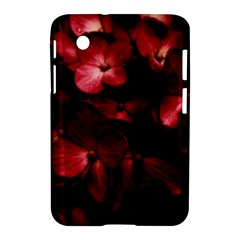 Red Flowers Bouquet In Black Background Photography Samsung Galaxy Tab 2 (7 ) P3100 Hardshell Case