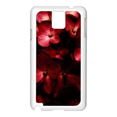 Red Flowers Bouquet in Black Background Photography Samsung Galaxy Note 3 N9005 Case (White)