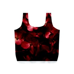 Red Flowers Bouquet In Black Background Photography Reusable Bag (s)