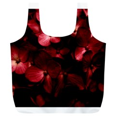 Red Flowers Bouquet in Black Background Photography Reusable Bag (XL)
