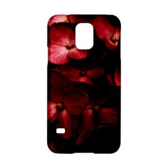 Red Flowers Bouquet in Black Background Photography Samsung Galaxy S5 Hardshell Case