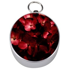 Red Flowers Bouquet in Black Background Photography Silver Compass
