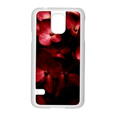 Red Flowers Bouquet in Black Background Photography Samsung Galaxy S5 Case (White)