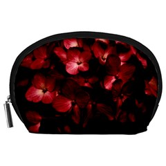 Red Flowers Bouquet in Black Background Photography Accessory Pouch (Large)