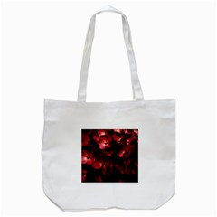 Red Flowers Bouquet in Black Background Photography Tote Bag (White)