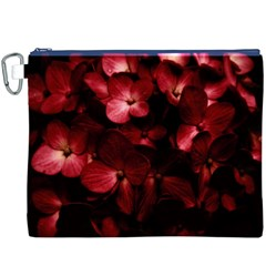 Red Flowers Bouquet in Black Background Photography Canvas Cosmetic Bag (XXXL)