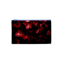 Red Flowers Bouquet in Black Background Photography Cosmetic Bag (XS)