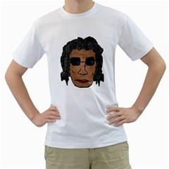 Cool Rock Star Man Drawing Men s T-Shirt (White)