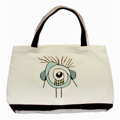 Cute Weird Caricature Illustration Classic Tote Bag