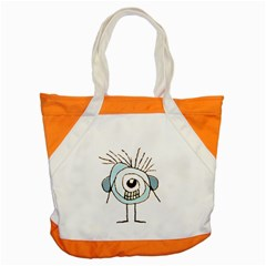 Cute Weird Caricature Illustration Accent Tote Bag