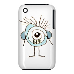 Cute Weird Caricature Illustration Apple iPhone 3G/3GS Hardshell Case (PC+Silicone)