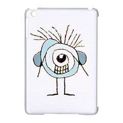 Cute Weird Caricature Illustration Apple Ipad Mini Hardshell Case (compatible With Smart Cover)