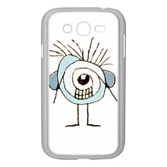 Cute Weird Caricature Illustration Samsung Galaxy Grand DUOS I9082 Case (White)