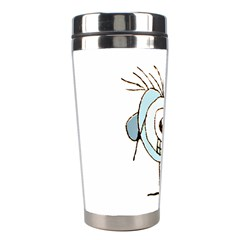 Cute Weird Caricature Illustration Stainless Steel Travel Tumbler