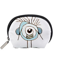 Cute Weird Caricature Illustration Accessory Pouch (Small)