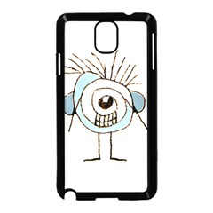 Cute Weird Caricature Illustration Samsung Galaxy Note 3 Neo Hardshell Case (Black)