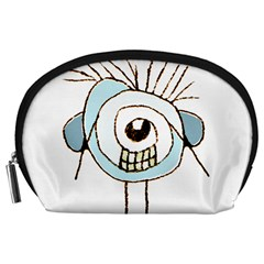 Cute Weird Caricature Illustration Accessory Pouch (Large)