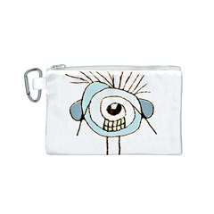 Cute Weird Caricature Illustration Canvas Cosmetic Bag (Small)