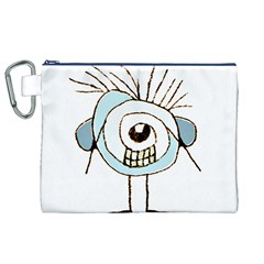 Cute Weird Caricature Illustration Canvas Cosmetic Bag (xl)