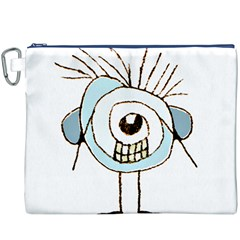Cute Weird Caricature Illustration Canvas Cosmetic Bag (XXXL)