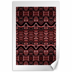 Tribal Ornate Geometric Pattern Canvas 24  X 36  (unframed)