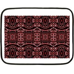 Tribal Ornate Geometric Pattern Mini Fleece Blanket (Two Sided)
