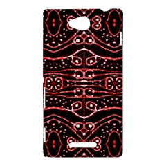 Tribal Ornate Geometric Pattern Sony Xperia C (S39H) Hardshell Case