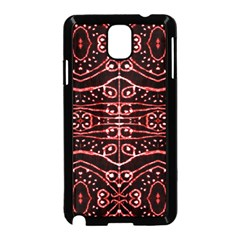 Tribal Ornate Geometric Pattern Samsung Galaxy Note 3 Neo Hardshell Case (Black)