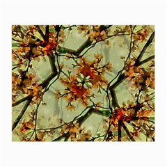Floral Motif Print Pattern Collage Glasses Cloth (small, Two Sided)