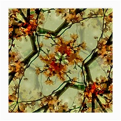 Floral Motif Print Pattern Collage Glasses Cloth (Medium, Two Sided)