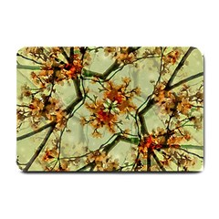 Floral Motif Print Pattern Collage Small Door Mat