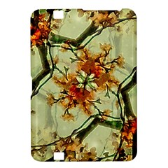 Floral Motif Print Pattern Collage Kindle Fire HD 8.9  Hardshell Case