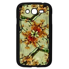Floral Motif Print Pattern Collage Samsung Galaxy Grand Duos I9082 Case (black)